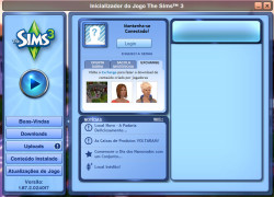 Inicializador do jogo The Sims 3