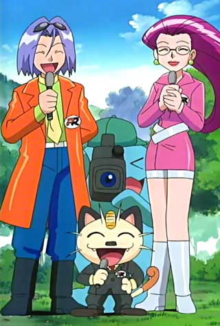 o que e dorama jesse james meowth pokemon disfarce