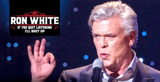 ron white if you quit listening I ll shut up netflix stand-up show comedia capa