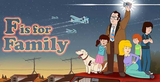 f is for family netflix animacao adulto comedia irreverente anos 70 capa