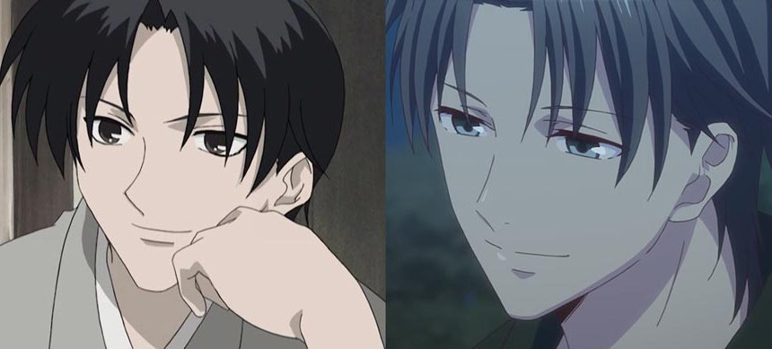 fruits basket reboot remake antes depois shigure sohma